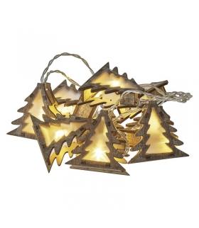 Dekoracje 10 LED 1,35m drewniane choinki 2x AA WW, timer EMOS ZY2066