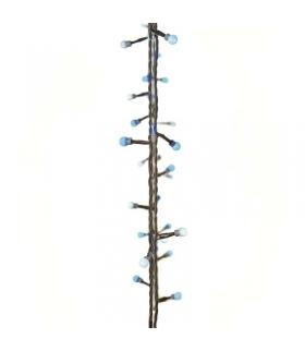 Lampki choinkowe 40 LED kulki 4m IP44 NIEB./BIAŁE, timer EMOS ZY2018T