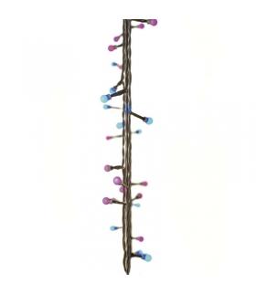 Lampki choinkowe 40 LED kulki 4m IP44 NIEB./RÓŻOWE, timer EMOS ZY2019T