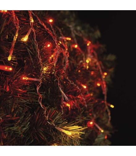 Oświetlenie świąteczne łączone- sople 100 LED RED/VNT firefl EMOS ZY2003