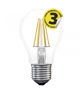 Żarówka LED Filament A60 A++ 8W E27  zimna biel EMOS Z74273