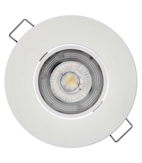 Oczko LED Exclusive 8W neutralna biel, biały EMOS ZD3142