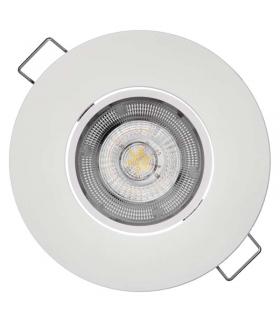 Oczko LED Exclusive 8W ciepła biel, biały EMOS ZD3141