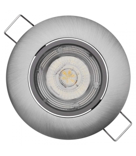 Oczko LED Exclusive 8W ciepła biel, nikiel EMOS ZD3241