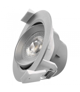 Oczko LED 7W 3x ściemnialne, ciepła biel, srebrny EMOS ZD3630S