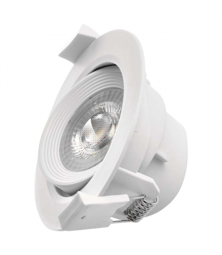 Oczko LED 7W 3x ściemnialne, ciepła biel, biały EMOS ZD3530S