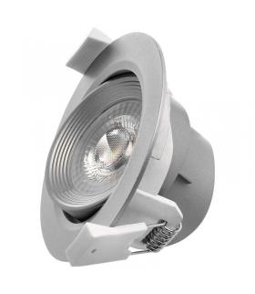 Oczko LED 7W 3x ściemnialne, neutralna biel, srebrny EMOS ZD3631S