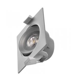 Oczko LED kwadratowe 7W ciepła biel, srebrny EMOS ZD3670