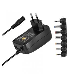 Zasilacz impulsowy 1500mA z wymiennymi końcówkami, USB EMOS N3112