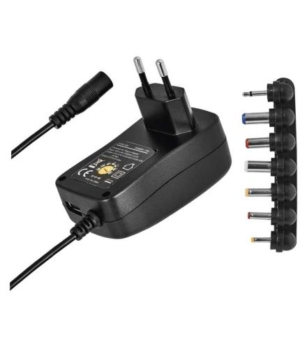 Zasilacz impulsowy 2250mA z wymiennymi końcówkami, USB EMOS N3113