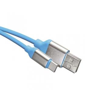 Przewód USB 2.0 wtyk A - wtyk C, 1 m, niebieski EMOS SM7025B
