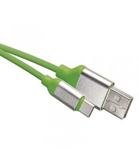 Przewód USB 2.0 wtyk A - wtyk C, 1 m ziel EMOS SM7025G