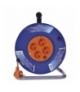 Przedłużacz zwijany - 4 gniazda, 3x1,0, 25m EMOS P194252