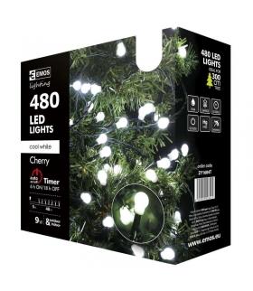 Lampki choinkowe 480 LED kulki 48m CW, timer EMOS ZY1604T