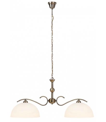 Lampa wisząca Aurelia E-27 2x max 60W brąz biała Rabalux 7139