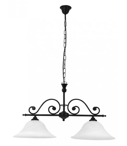 Żyrandol Dorothea E27 2x40W 2-ramienny czarny Rabalux 7777