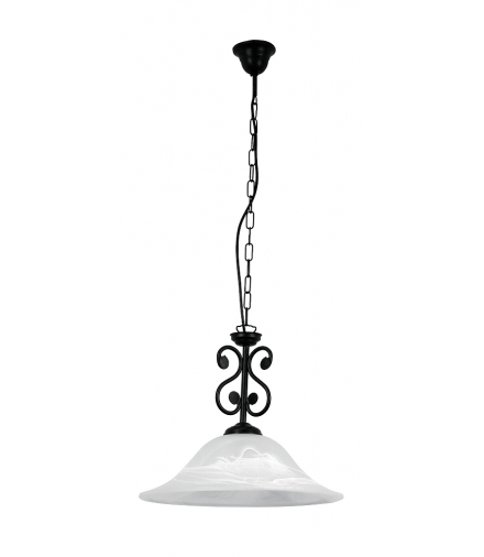Lampa wisząca Dorothea E27 1x60W czarny mat Rabalux 7776