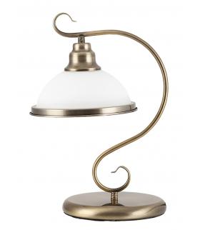 Lampa stołowa Elisett E27/60W mosiądz ant. Rabalux 2752