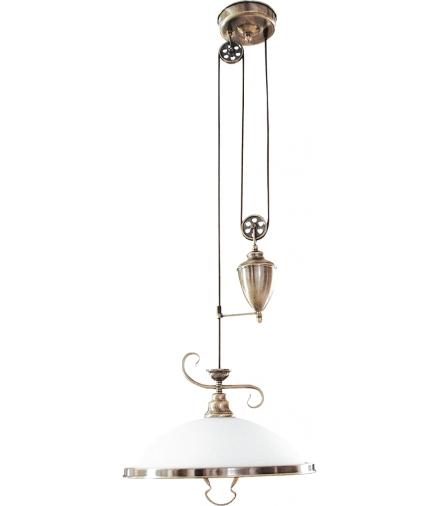 Lampa wisząca Elisett E27 60W mosiądz ant. Rabalux 2756