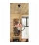 Lampa wisząca Enna E-14 40W 385mm czarny brązowy orzech Rabalux 7870