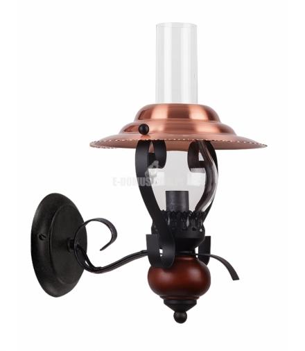 Kinkietl Enna E-14 40W czarny brązowy orzech Rabalux 7868