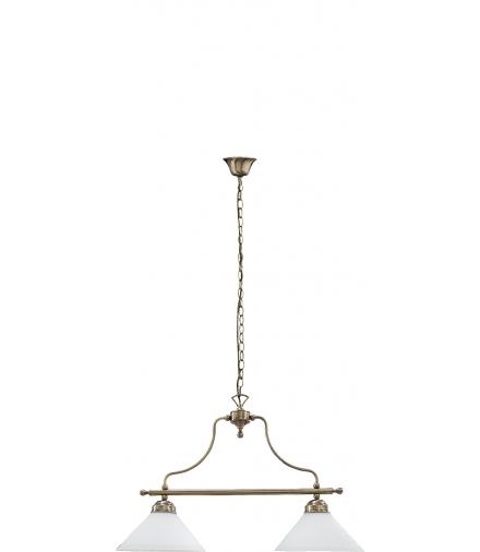 Lampa wisząca Marian E27 2x60W mosiądz ant. Rabalux 2707