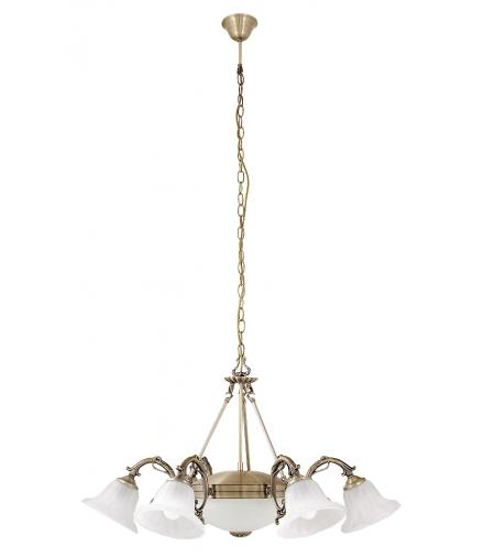 Żyrandol Orchidea 6-ramienny brąz Rabalux 8556