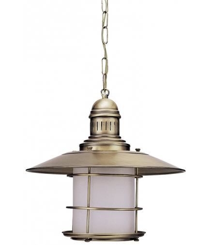 Lampa wisząca Sudan E27 1x60W mosiądz ant. Rabalux 7993