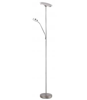 Lampa podłogowa Aaron 40LED/18W, 18LED/5W IP20, chrom satyna Rabalux 4162