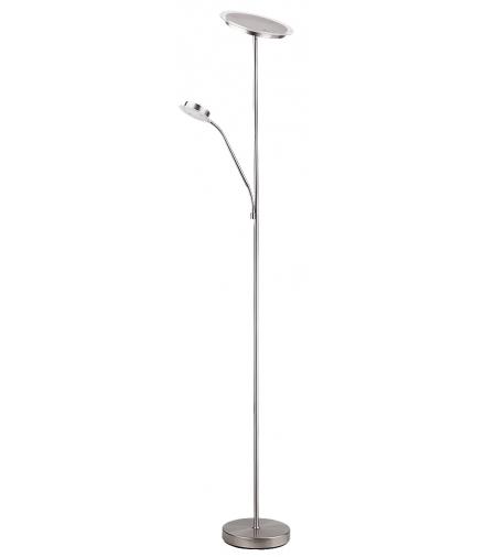Lampa podłogowa Aaron 40LED 18W, 18LED 5W IP20, chrom satyna Rabalux 4162