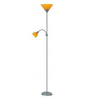 Lampa podłogowa Action srebrna pomarańcz 2 ramien. Rabalux 4026
