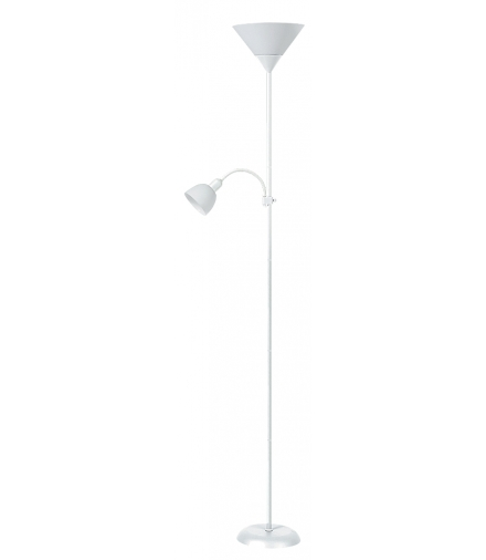 Lampa podłogowa Action E27 1x100W+E14 1x25W biała Rabalux 4061