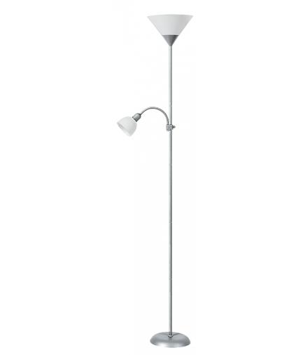 Lampa podłogowa Action chrom biała Rabalux 4064