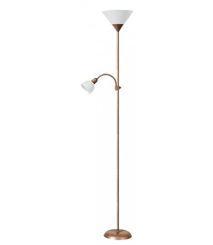 Lampa podłogowa Action brąz antyczny biały Rabalux 4065