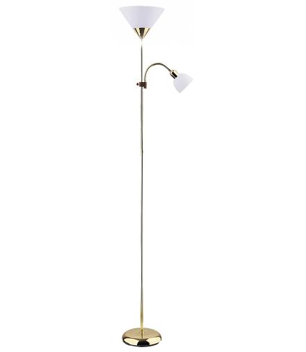 Lampa podłogowa Action E27 100W+ E14 25W złoty Rabalux 4060