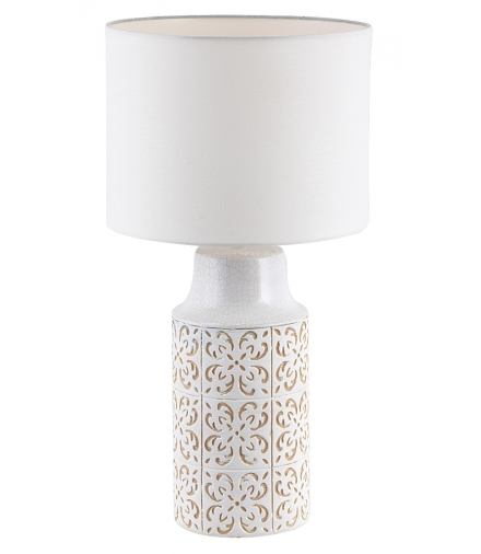 Lampka biurkowa Agnes E27 1x40 W biały beżowy Rabalux 4310