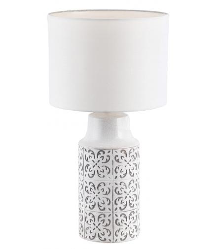 Lampka biurkowa Agnes E27 1x40 W biały szary Rabalux 4308