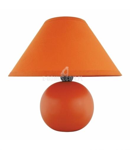 Lampka ceramiczna Ariel E14 40W pomarańczowa Rabalux 4904