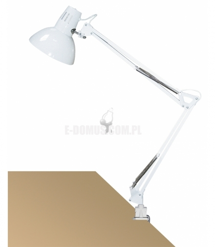 Lampka biurkowa Arno E27 1x60W biała Rabalux 4214