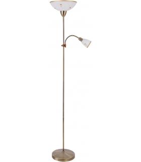 Lampa podłogowa Art E27 G45 60W + E14 40W kwiatki Rabalux 4009