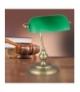 Lampka biurkowa Bank E27 1x60W brąz Rabalux 4038 bankierska