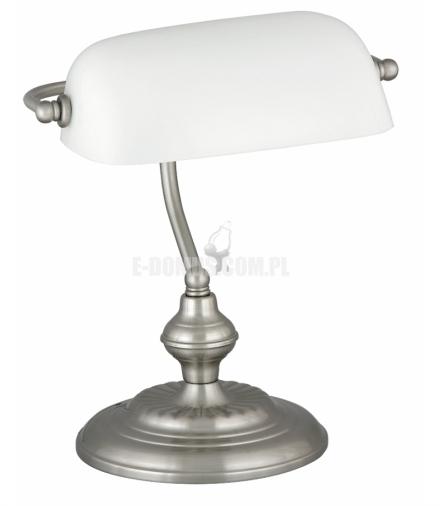 Lampka biurkowa Bank E27 1x60W chrom satyna Rabalux 4037