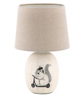 Lampka stołowa Dorka E14 1x 40W kremowa Rabalux 4604