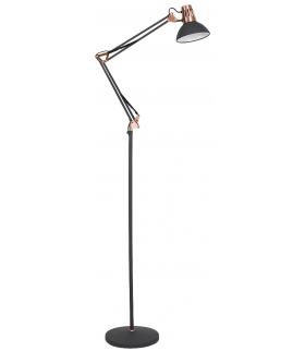 Lampa podłogowa Gareth E27 1x40W czarny matowy/miedź Rabalux 4523