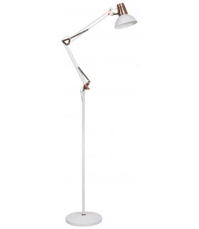Lampa podłogowa Gareth E27 1x40W biały matowy miedź Rabalux 4525