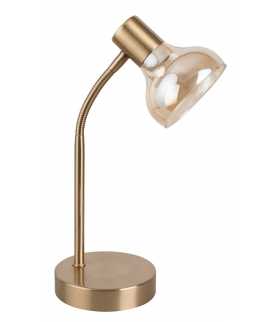 Holly Lampa stołowa 1x25W bursztyn antyczne złoto Rabalux 5554