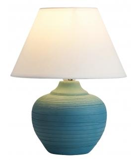 Lampka stołowa Molly E14 1x 40W niebieska biała Rabalux 4392