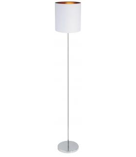 Lampa podłogowa Monica E27 1x60W biały złoty chrom Rabalux 2529