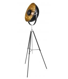Lampa podłogowa Nataniel E27/40W czarny/złoty Rabalux 4119