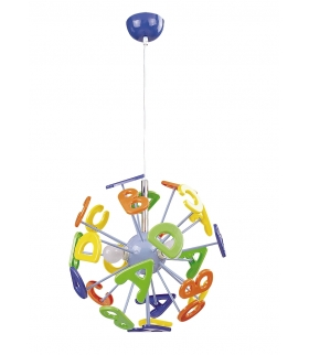 Lampa wisząca ABC E-14 3x40W wielokolor Rabalux 4716